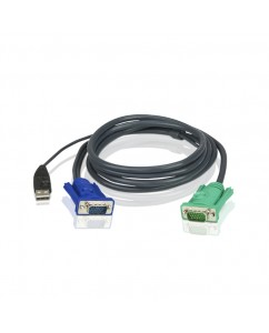 5M USB KVM Cable with 3 in 1 SPHD [2L-5205U]