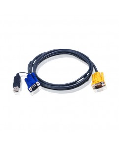 6M USB KVM Cable with 3 in 1 SPHD and built-in PS/2 to USB converter [2L-5206UP]