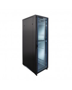 "Standing Close Rack 19"" Glass Door [IR9042G]"